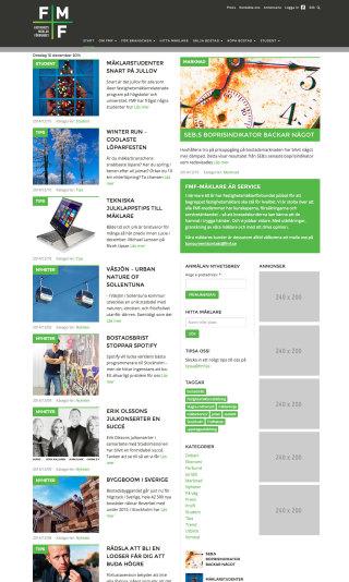 Annonsplatser på framsidan