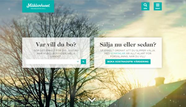Mäklarhuset lanserar ny hemsida i full HD-kvalitet