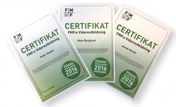 De blev certifierade först!
