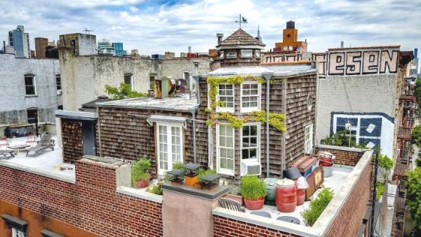 Bo i en stuga på Manhattan